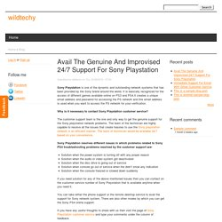 Avail The Genuine And Improvised 24/7 Support For Sony Playstation