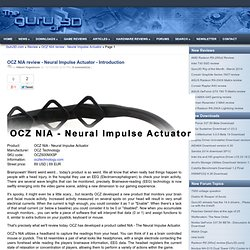 OCZ NIA review - Neural Impulse Actuator