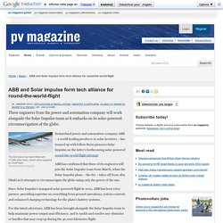 ABB and Solar Impulse form tech alliance for round-the-world-flight: pv-magazine