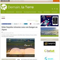 Solar Impulse retourne sous son hangar au Japon