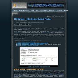JPEGsnoop - Detecting Edited Photos