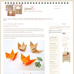 origami cute foxes