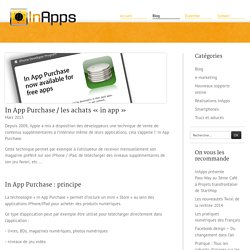 "In App Purchase / les achats ""in app"" - InApps"