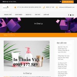 In Chai Lọ Đựng Mỹ Phẩm Cao Cấp Số Lượng Ít Hotline 0909117589