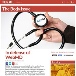 In defense of WebMD