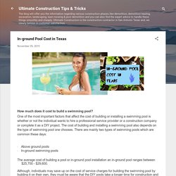 In-ground Pool Cost in Texas