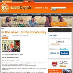In the news: crime vocabulary