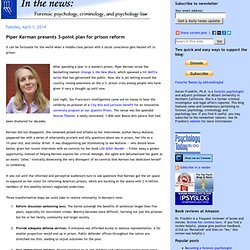 In the news by Karen Franklin PhD
