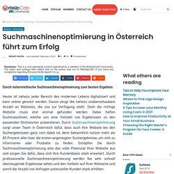 Suchmaschinenoptimierung in Österreich führt zum Erfolg