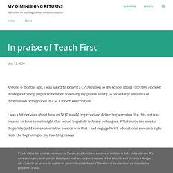 In praise of Teach First