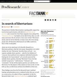 In search of libertarians