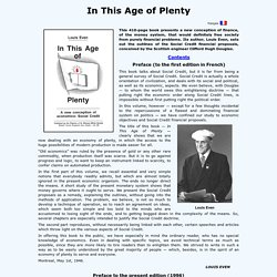 In This Age of Plenty, by Louis Even