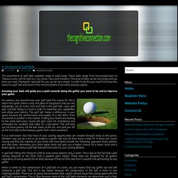 In the World of Golf Balls