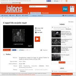 guerre des ondes Appel de De Gaulle enregistré du 22 juin 1940