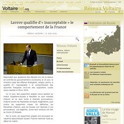 Lavrov qualifie d'« inacceptable » le comportement de la France