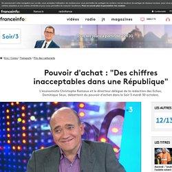 """Pouvoir d'achat : """"Des chiffres inacceptables dans une République"""""""