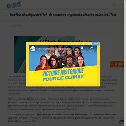 Inaction climatique de l'État : de nouveaux arguments déposés au Conseil d'État - L'Affaire du Siècle