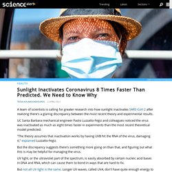 Sunlight Inactivates Coronavirus 8 Times Faster Than Predicted. We Need to Know Why