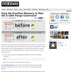 Free Up Inactive Memory in Mac OS X with Purge Command