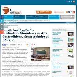 Le rôle inaliénable des institutions éducatives : au delà des traditions, rien à craindre du web 3.0
