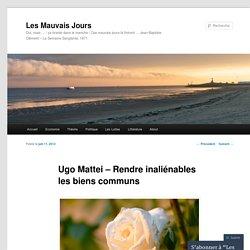 Ugo Mattei – Rendre inaliénables les biens communs