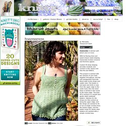 Inamorata tank: Knitty Spring+Summer 2010