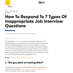 Inappropriate Job Interview Questions: How To Respond