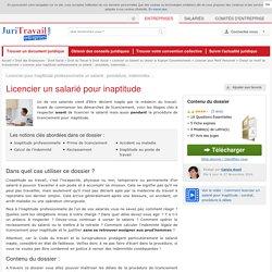 Licencier pour inaptitude professionnelle un salarié : procédure, indemnités ...