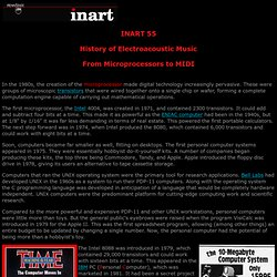 INART 55 From Microprocessors to MIDI