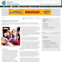 L'inattention sur les bancs d'école
