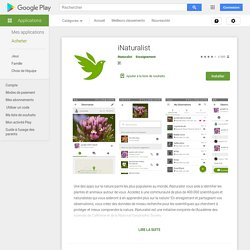 iNaturalist – Applications sur Google Play