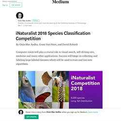 iNaturalist 2018 Species Classification Competition