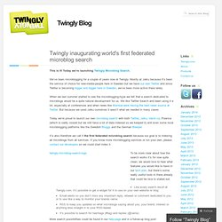 Blog » Twingly inaugurating world's first federated microblog se