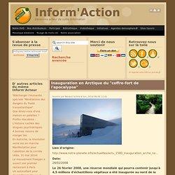 """Inauguration en Arctique du """"coffre-fort de l'apocalypse"""""""