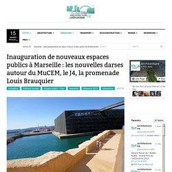 Inauguration de l'esplanade du J4 à Marseille