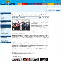 Ciment: Inauguration d'une troisième usine de production
