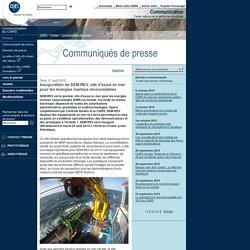 Inauguration de SEM-REV, site d'essai en mer pour les énergies marines renouvelables