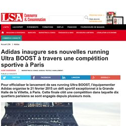 Adidas inaugure ses nouvelles running Ultra... - Textile, habillement