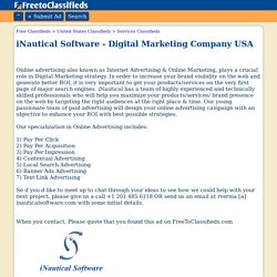 iNautical Software - Digital Marketing Company USA York business