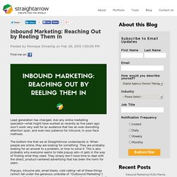 Inbound Marketing: Reaching Out by Reeling Them In