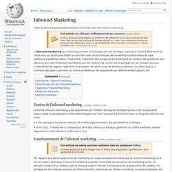 Inbound Marketing — Wikipédia