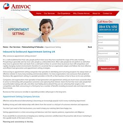Inbound & Outbound Appointment Setting Service Company in the UK - Amvoc