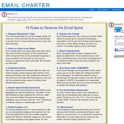 Save Our Inboxes! Adopt the Email Charter!