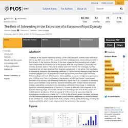 The Role of Inbreeding in the Extinction of a European Royal Dynasty