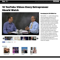10 YouTube Videos Every Entrepreneur Should Watch