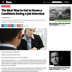 The Best Way to Get to Know a Candidate During a Job Interview
