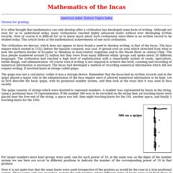 Inca mathematics