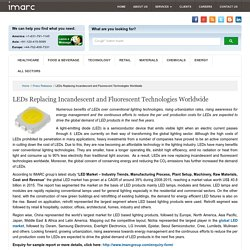 LEDs Replacing Incandescent and Fluorescent Technologies Worldwide