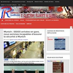 Munich : 55000 arrivées en gare, nous sommes incapables d'assurer la sécurité à Munich