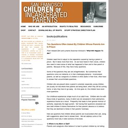 San Francisco Children of Incarcerated Parents Partnership Blog: books/publications